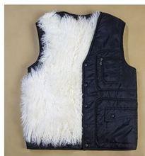 The 2014 winter in elderly male fur wool vest it thickened fur sheepskin vest cotton vest(China (Mainland))