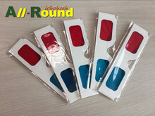 free shipping Paper 3D Glasses 2 pairs / lot red cyan (blue) 3D glasses paper sizes 3 points, 2pcs/LOT 3D glasses(China (Mainland))