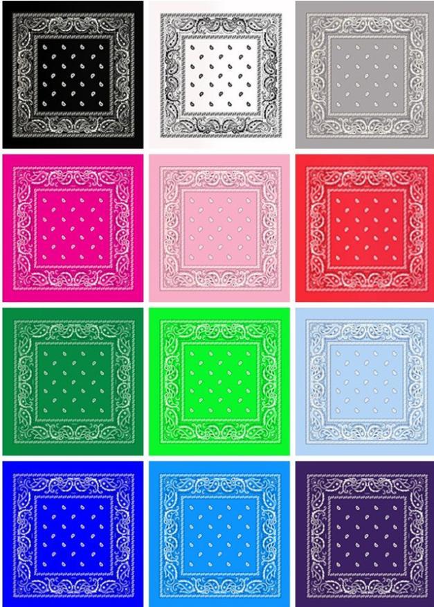 2015 New Colorful Square Bandanas Cotton Head Wrap Scarf Wristband Multicolor - best aliexpress store