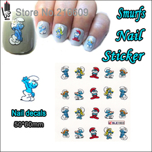 1 Sheet Nail Sticker BLE1603 Blue Cartoon Spirit Nail Art Water Transfer Sticker Decal Sticker For Nail Art Decoration(China (Mainland))
