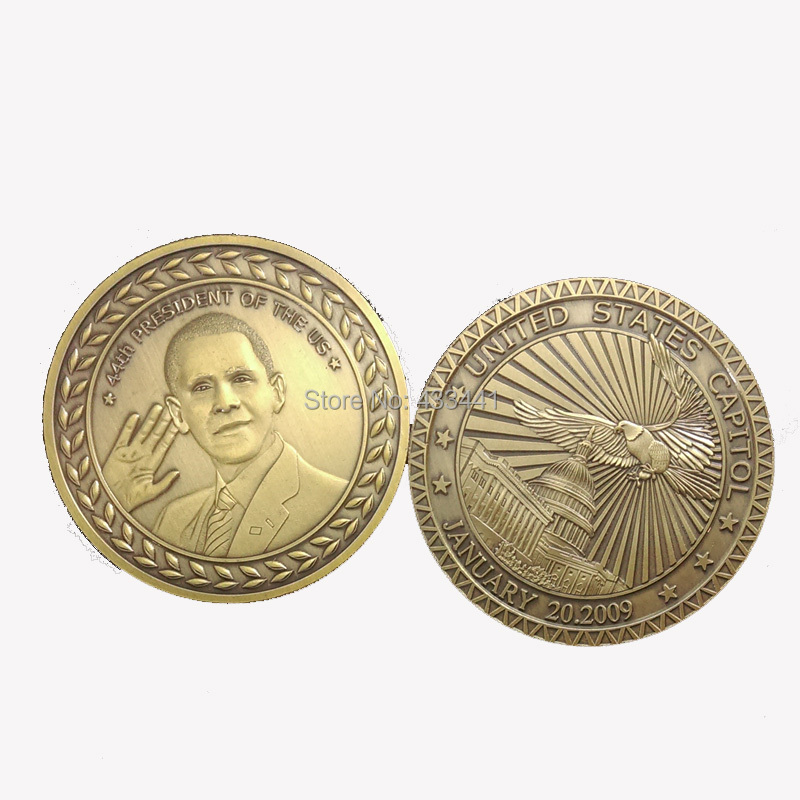 10pcs/lot,free shipping,Barack Obama Sworn in as 44th United State President Commemorative coin(China (Mainland))