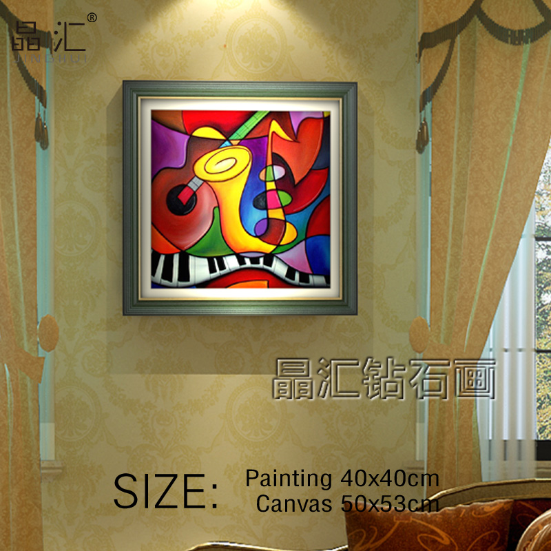 Diamond Painting Cross Stitch,An abstract painting of instruments,Be all covered with Square Diamond Full painting,Diy Kits(China (Mainland))