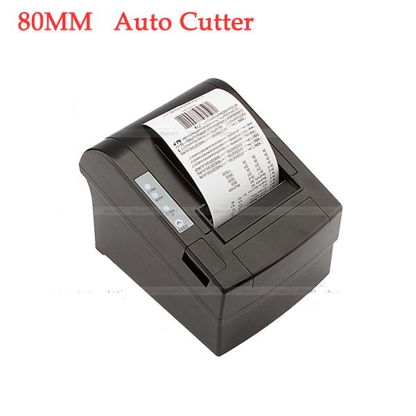 High quality pos printer 80mm thermal receipt Small ticket barcode printer automatic cutting machine printer(China (Mainland))