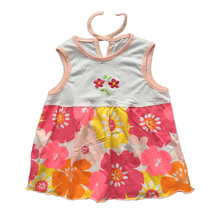 Free Shipping Baby Dresses 1-2 years Girls Infant Cotton Clothing Dress Summer Clothes Printed Embroidery Girl Kidsetst0002(China (Mainland))