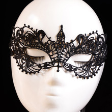 Hot sale Beautiful lady Black Lace Floral Eye Mask Venetian Masquerade Fancy Party Prom Dress Accessories drop shipping(China (Mainland))