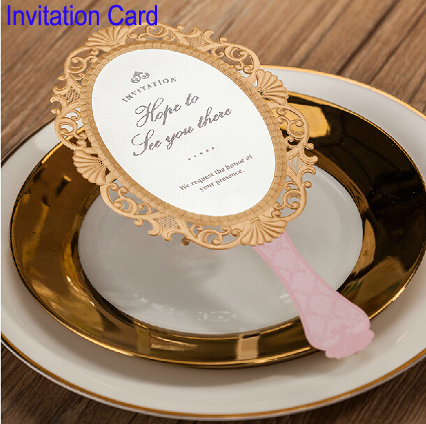 Romantic Invitating Card Mirror Christmas Elegant Laser Cut Paper Decoration Favors And Gifts Lover Party Wedding Invitation(China (Mainland))