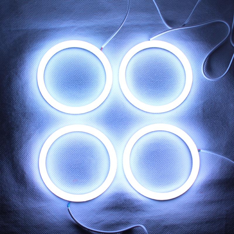 RGB Angel Eyes Cotton Light LED Light DRL Turn Light For Car Headlights - One set<br><br>Aliexpress