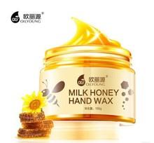 Milk Honey Hand Wax Whitening Moisturizing Nourishing Anti Wrinkle Anti-aging Exfoliating Repair Hand Skin Care Beauty Hand Mask