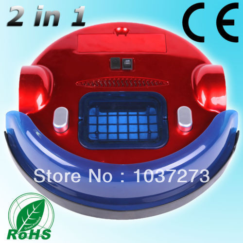 2 IN 1 Auto Robotic Vacuum Cleaner Recharge Automatic Sunction Mop Floor Sweep(China (Mainland))