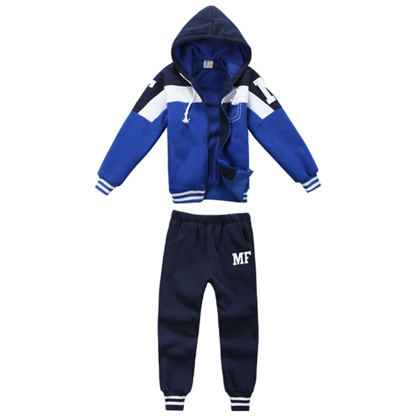 Size 90-130 cm Active Style Boys Sportwear Casual Kids Clothing Set Children Spring Sport Sets Hooded Coats + Pant Cheap Clothes(China (Mainland))
