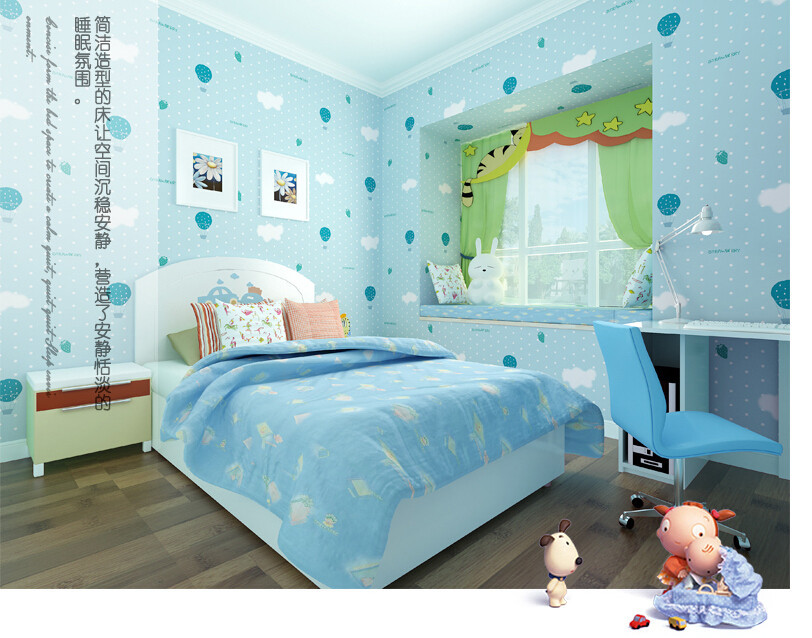 Home decor photo mural wallpaper roll for kids bedroom for Chinese mural wallpaper