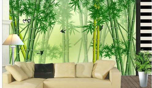 papier peint paysage forestier de bambou papier peint. Black Bedroom Furniture Sets. Home Design Ideas