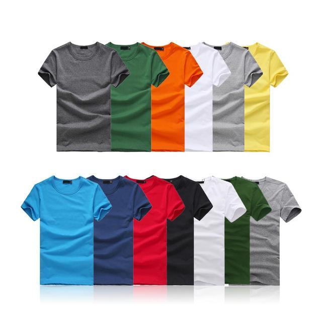 Чистый цвет Мужская Футболка Slim Fit Экипаж Шеи Футболку Мужчины с коротким Рукавом Повседневная футболка Ти Топы летом мужской Короткий Рубашка M-XXL