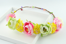 summer style artificial flower headband wreath hair clips Headwear wedding bouquets bridal hair accessories flowers garlands