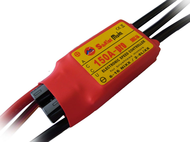 Sunrise Pro-150A-SBEC Brushless Electronic Speed Controller / 150A SBEC ESC with 6A BEC for Brushless Motor for RC Airplane(China (Mainland))