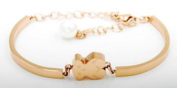 Высокое качество 2015 новый женский медвежонок браслет милый медведь браслеты tb121 жемчужный браслет