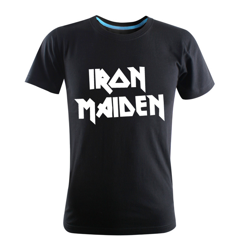 2016-100% Cotton Men's High Quality Rock Band of IRON MAIDEN printing Short Sleeves T-Shirt(China (Mainland))
