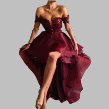 Hot Burgundy Sweetheart Evening Dresses High Low Elegant Formal Gowns Abiti da Sera Cerimonia Party Dresses Long Vestido Noche(China (Mainland))