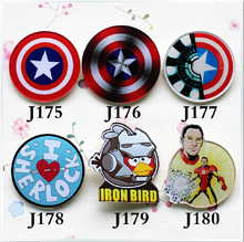 (min mix order is $10) Free shipping 2016 New Harajuku Captain America, Iron Man badge brooch Diy phone shell accessories