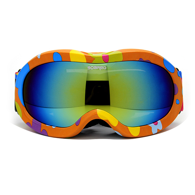 Children Ski Boys Girls Kids Ski Goggles Snowboard Ski Glasses Prevent mist Sunglasses Kid's Winter Skate Anti-UV Glasses(China (Mainland))