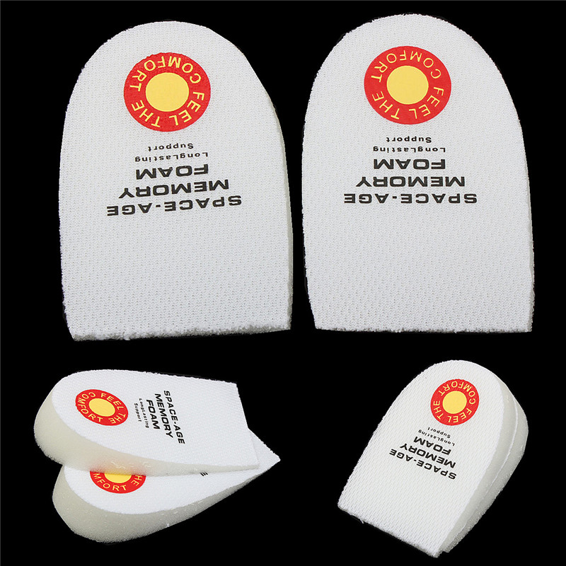 Best Sale 1 Pair comfortable and stable Back Slow Rebound Memory Foam Heel Support Pads Cushions Plantar Fasciitis Pain(China (Mainland))