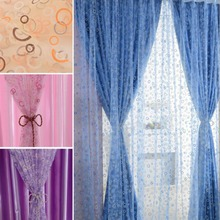 1Pc Lovely Curtain Room Bubble Pattern Voile Window Curtains Sheer Panel Drape Home Accessories Decor Decration Deccorating(China (Mainland))