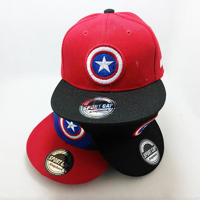 Новый бренд капитан америка Snapback для мальчиков хип-хоп детей летом бейсболка ...