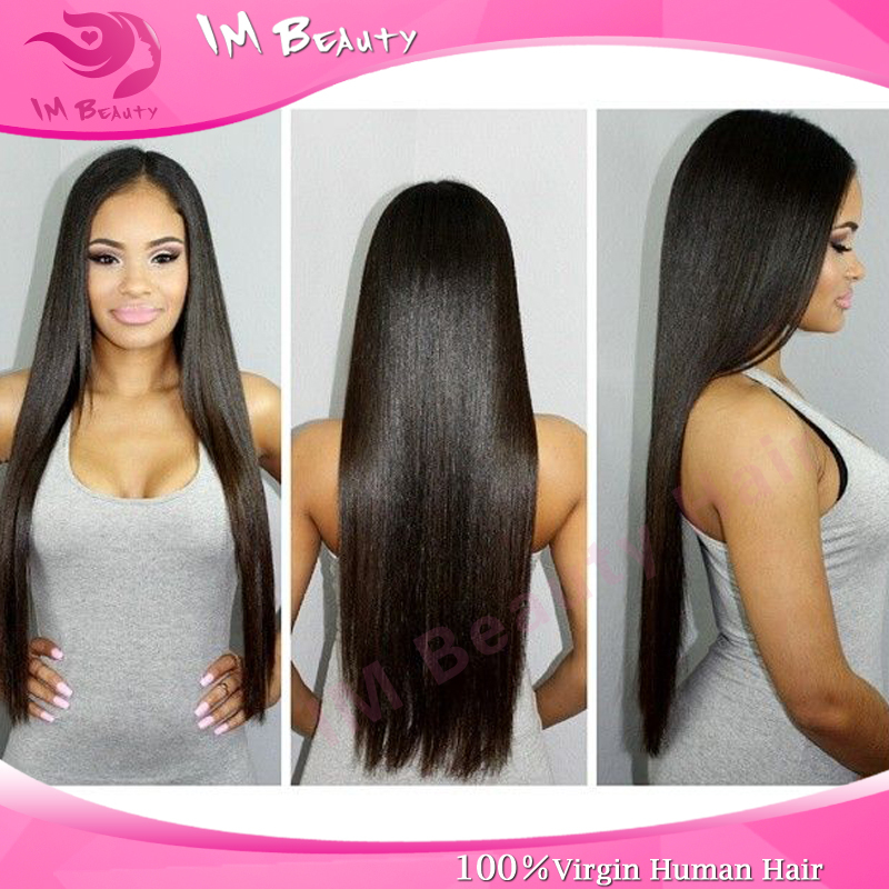 Cambodian Virgin Hair Straight Weave 100% 6A unprocessed Certified Human Hair Weaves for sale Shed & Tangle Free 3pcs lot()