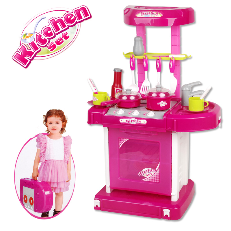 Girls small kitchen table child toy musical kitchen toys for Kitchen set toys divisoria