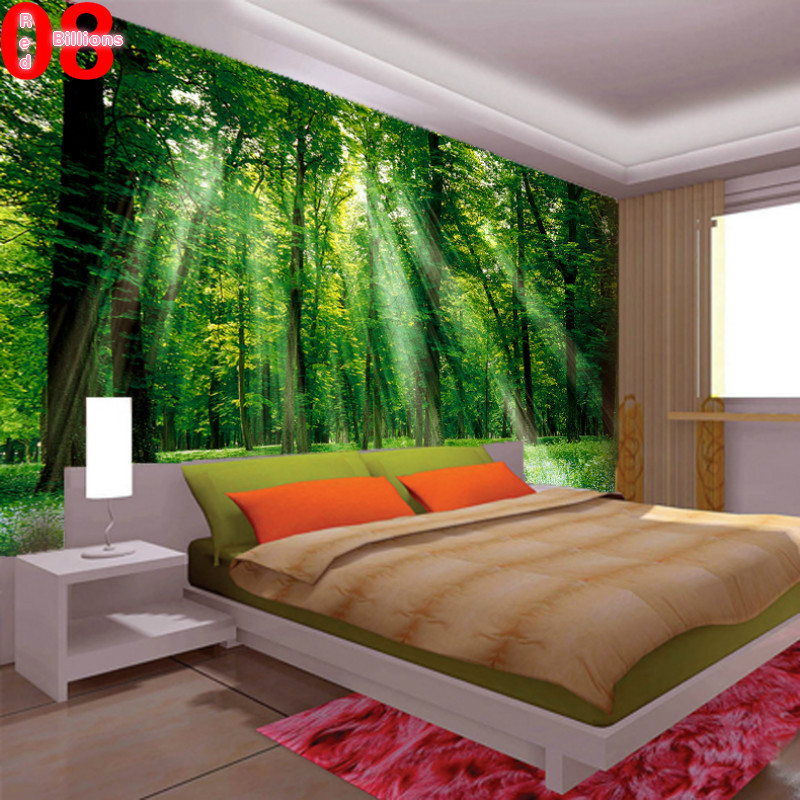 Mural living room wallpaper tv sofa wall decoration for Nature room wallpaper