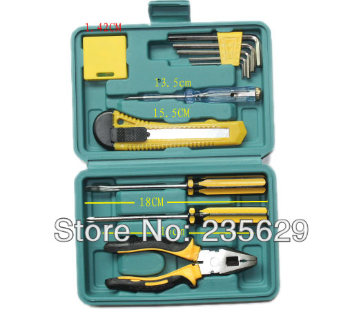 Free Shipping, 12pc Household hardware tools,home tools kit, carpenter hardware tools set,hardware tool sets, hand tool sets