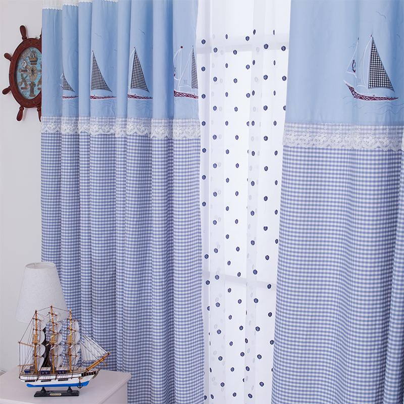 Blue Plaid Curtains Promotion Shop For Promotional Blue Plaid Curtains On