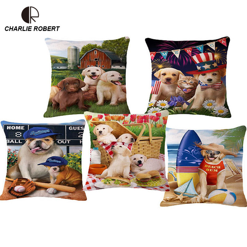 Hot High QualityLovely Animal Dog Home Sofa Decorative Cushion For chair the sofa Novelty Car Seat Back Pillow No filling HH1069(China (Mainland))