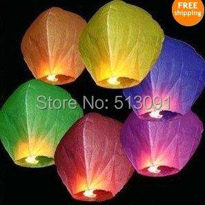 Wholesale 5pcs/lot Sky Lanterns,Wishing Lantern Chinese Kongming lantern for Wedding,free shipping(China (Mainland))