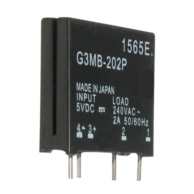 New Electrical Unit High Standard G3MB-202P DC-AC PCB SSR In 5VDC Out 240V AC 2A Solid State Relay small size and reliable(China (Mainland))
