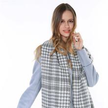 ZA Women 2015 Oversize Tartan Scarf Desigual Plaid Scarf Women Bandana New Designer Acrylic Blanket Scarves Poncho Shawl Cape
