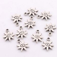 17pcs Antique Silver Evil Eye Sun Lucky Charms Pendants 18.7x14.3mm Jewelry DIY L106(China (Mainland))
