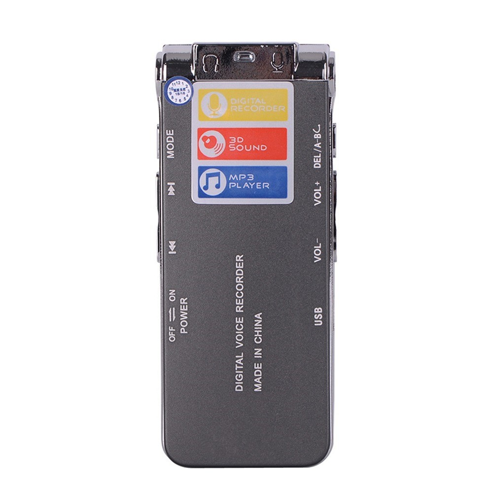 Voice-Recorder-Digital-N28-8G-USB-digital-voice-recorder-silver-Black-Mp3-player-free-ship-SD (1)