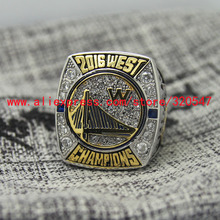2016 Golden State GSW Warriors West Championship Basketball Copper Ring 7-15Size MVP CURRY