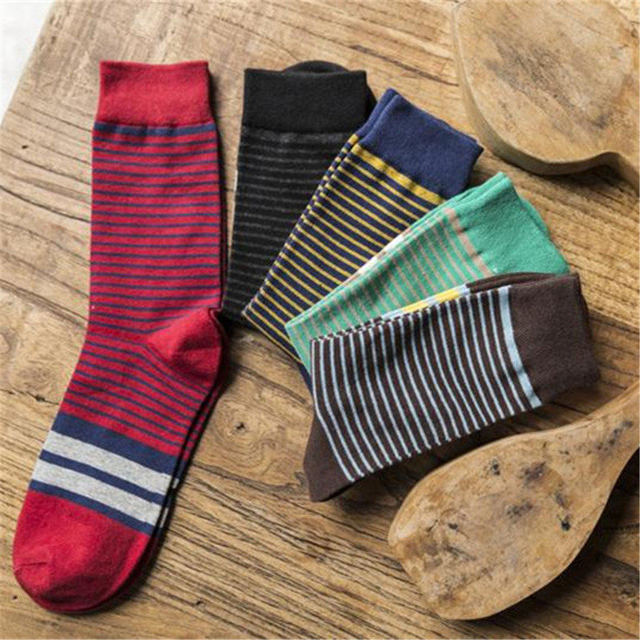 Новая мода зима хлопчатобумажные носки осенью и зимой отдых мужские носки более теплые ...
