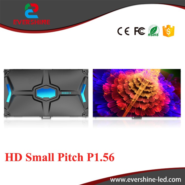 P1.56 indoor ultra HD 2K/4K small pitch full color led display screen for advertising meeting,stage,monitoring,Conference,malls(China (Mainland))