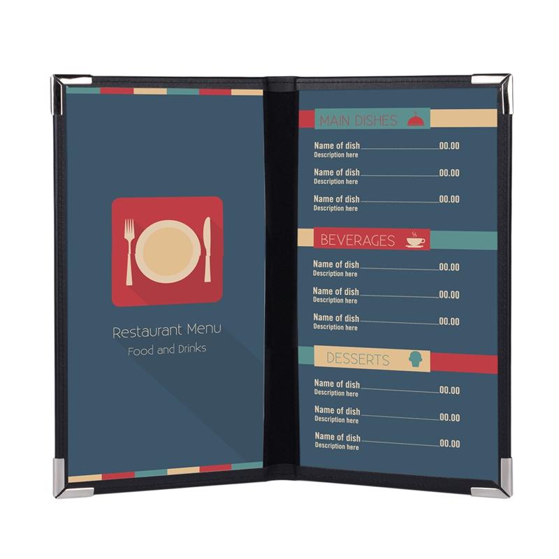 100pcs Customized Menu Folder Restaurant Menu Cover PU Leather Coffee KTV Menu List Holder Print Your Own LOGO Wholesale Retail(China (Mainland))