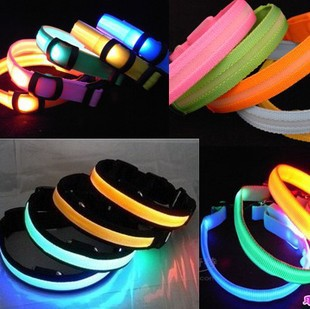 150pc Best quality of led dog collar , led pet collar, dog collar mix colors and S M L XL size #P02(China (Mainland))