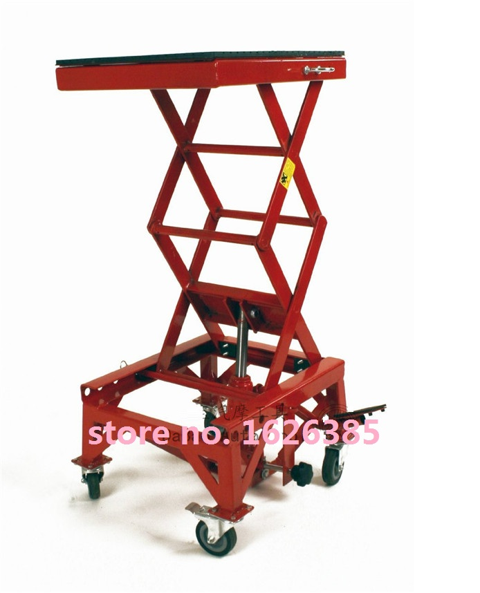 135KG/300LB with wheel Motorcycle stand motorcycle lift table motorcycle Scissor Lift table Garage Shop Stand(China (Mainland))