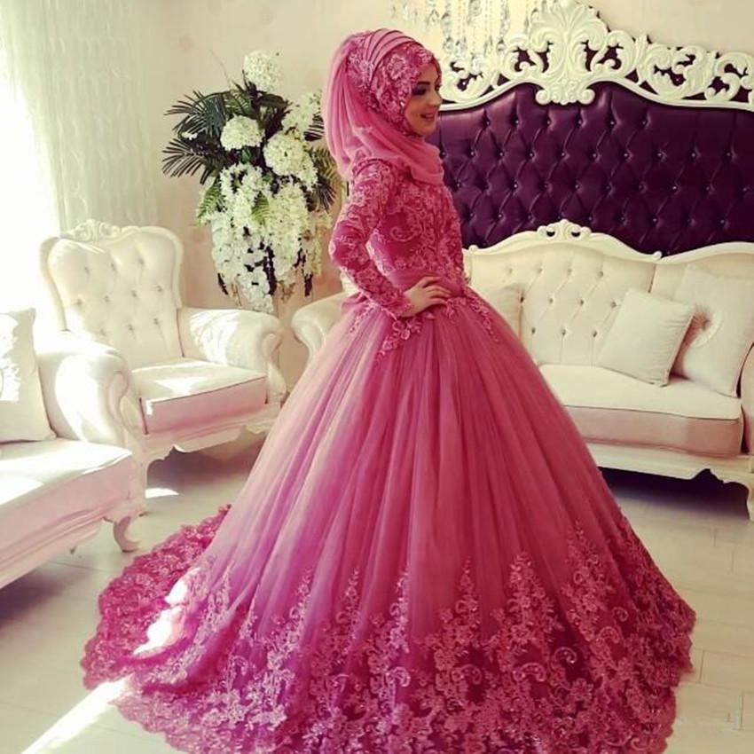 Arabischen Muslimischen Hochzeitskleid 2016 Türkische Gelinlik Spitze ...