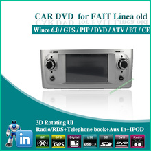 factory wholesale Car dvd player for fiat linea old BLUE ME GPS DVD BT RADIO USB AUX SD IPOD audio Free shipping 2pcs/lot 1401(China (Mainland))
