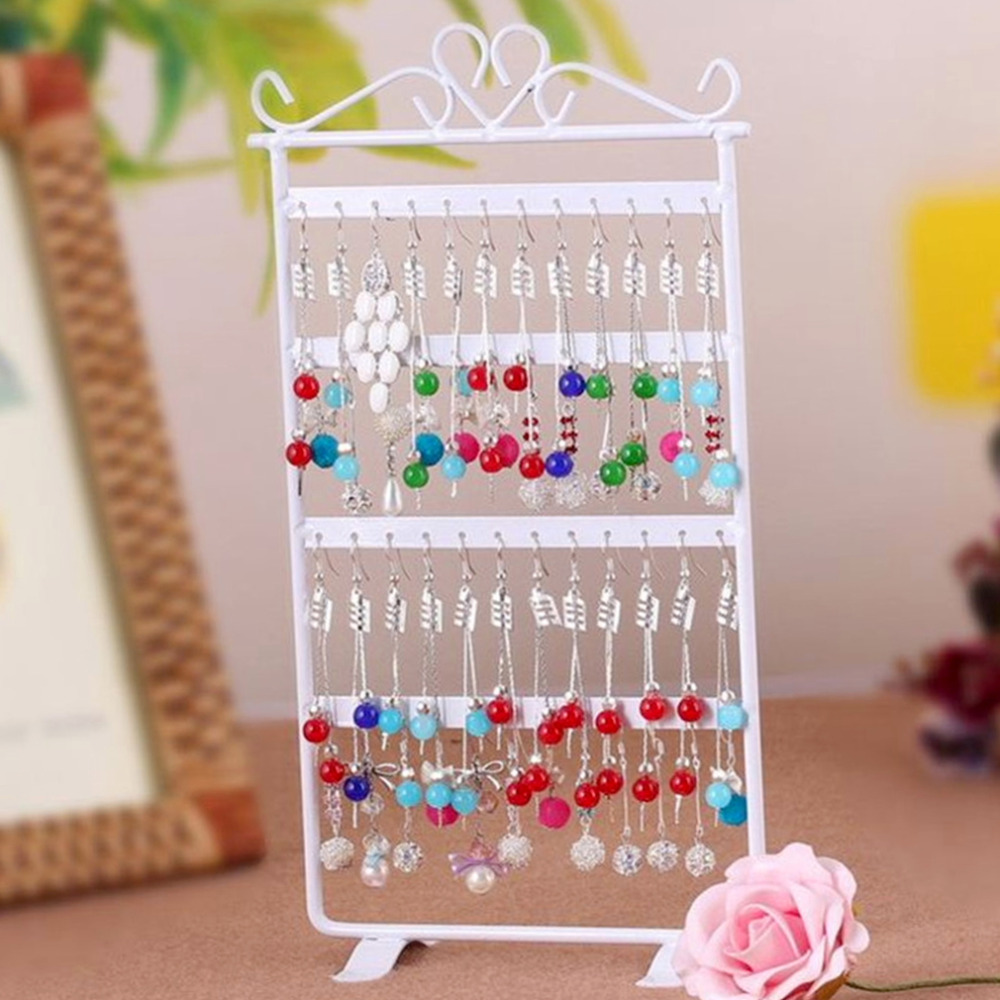 1pcs 48 Hole Earrings Ear Studs Jewelry Display Rack Metal Stand Holder Showcase Hot Selling(China (Mainland))