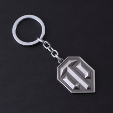 Kittenup Game World of Tanks WOT Silver Color coppery All Metal Bullet Symbol Keychain Dumitru Key chain Ring For Men's Gifts