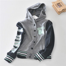 In the spring of  children hooded cardigan the stylish jacket made of pure cotton blouse euramerican style on sale free shipping(China (Mainland))