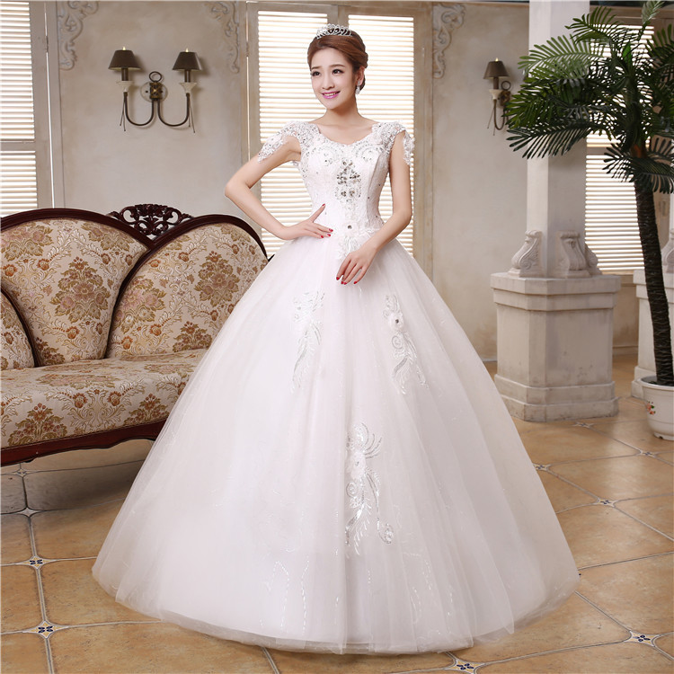 Fashion Wedding Dresses 2015 White Sexy Sleeveless Luxury Beading Floor Length Ball Gown Multilayer Bridal Gowns New 62(China (Mainland))